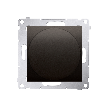 Lichtsignal grün LED (Modul) Gehäuse braun matt Simon 54 Premium Kontakt Simon DSS3.01/46