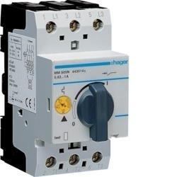 Motorschutzschalter einstellbar von 0,63 bis 1,0 A 230/400V Hager MM505N