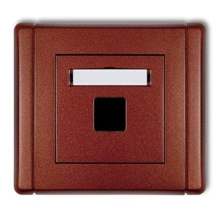 Multimedia-Steckdose ohne Modul (Keystone-Standard) braun 9FGM-1P
