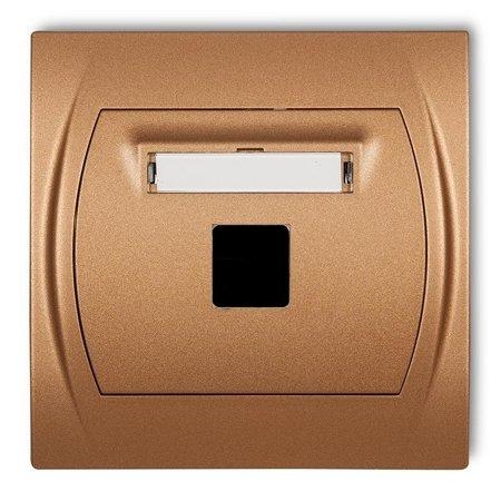 Multimedia-Steckdose ohne Modul (Keystone-Standard) gold 8LGM-1P