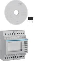 Multimessgerät, 3ph, über Wandlermessung, RS485 Schnittstelle, Messung U, I, P, Q, S Hager SM101C