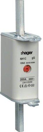NH-Sicherungseinsatz NH1 gG 500V 200A Kombi-Melder Grifflasche spannungsführend Hager LNH1200M