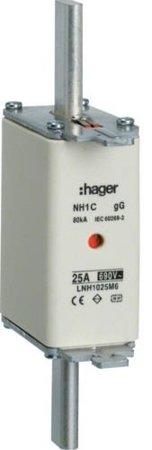 NH-Sicherungseinsatz  NH2C gG 690V 125A Kombimelder Grifflasche spannungsführend Hager LNH2125M6