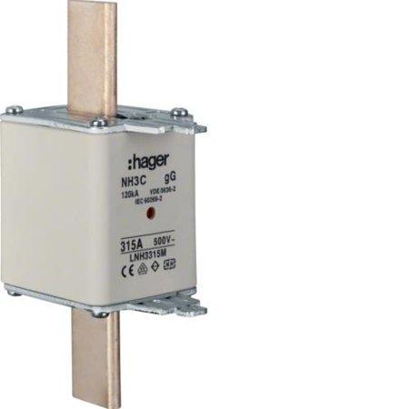 NH-Sicherungseinsatz NH3C gG 500V 315A Kombi- Melder Grifflasche spannungsführend Hager LNH3315M
