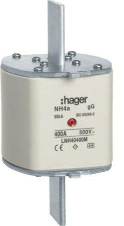 NH-Sicherungseinsatz NH4a gG 500V 800A Mitten-Melder Lasche spannungsführend Hager LNH40800M