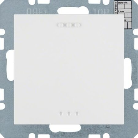 Objekt-Temperaturregler mit Tasterschnittstelle S.1/B.3/B.7 polarweiß matt Hager 75441289