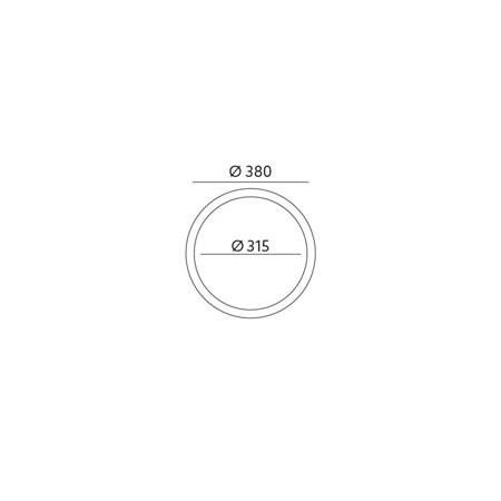 Plafon P2/2 CLASSIC HOLZ in der Farbe ORANGE Kobi