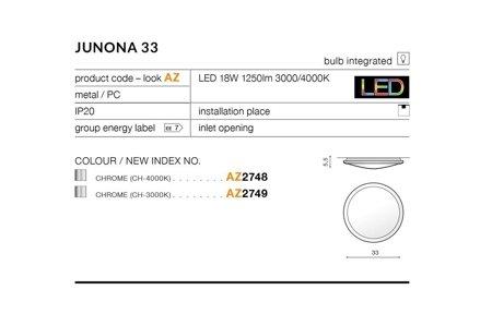 Plafond JUNONA 33 Modern Metall, PC Chrom Azzardo AZ2749