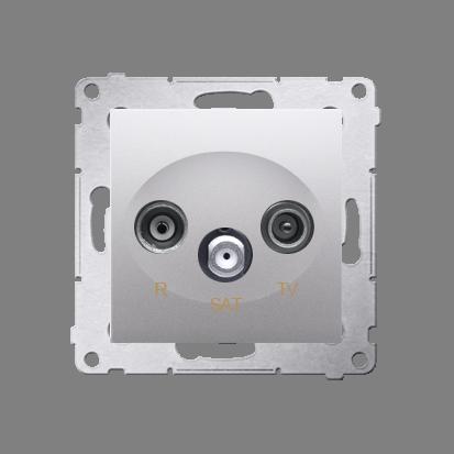 R-TV-SAT-Enddose Einsatz silber matt Simon 54 Premium Kontakt Simon DASK.01/43