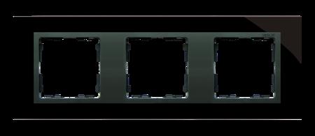 Rahmen 3fach Glas schwarz/ Zwischenrahmen graphit Kontakt Simon 82 82837-32