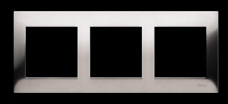 Rahmen 3fach Inox IP20/IP44 Simon 54 Premium Kontakt Simon DR3/61
