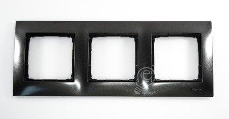Rahmen 3fach anthrazit matt IP20/IP44 Simon 54 Premium Kontakt Simon DR3/48
