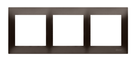 Rahmen 3fach braun matt IP20/IP44 Simon 54 Premium Kontakt Simon DR3/46