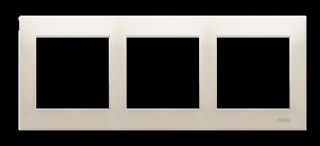 Rahmen 3fach für Hohlwanddose Gipskarton cremeweiß matt IP20/IP44 Kontakt Simon 54 Premium DRK3/41