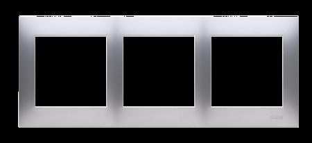 Rahmen 3fach silber matt IP20/IP44 Simon 54 Premium Kontakt Simon DR3/43