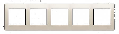 Rahmen 5fach für Hohlwanddose Gipskarton cremeweiß matt IP20/IP44 Kontakt Simon 54 Premium DRK5/41
