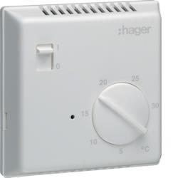 Raumthermostat elektronisch mit Ein/Aus-Schalter Hager EK003