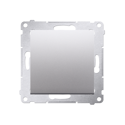 Schalter (Modul) 1polig Silber matt mit Steckklemmen Simon 54 Premium Kontakt Simon DW1.01/43
