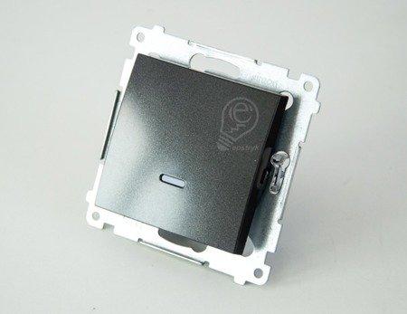 Schalter (Modul) 1polig mit LED Anthrazit matt Kontakt Simon 54 Premium DW1L.01/48