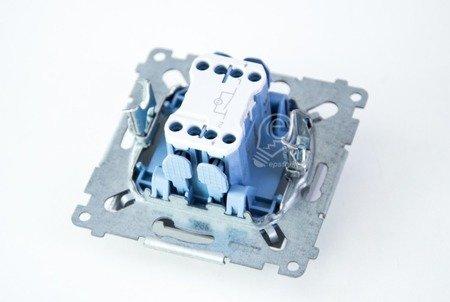 Schalter (Modul) 1polig mit LED Silber Kontakt Simon 54 Premium DW1L.01/43