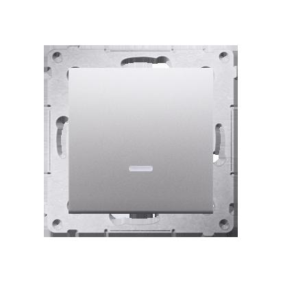 Schalter (Modul) einpolig mit Signalisierung Silber Kontakt Simon 54 Premium DW1ZL.01/43