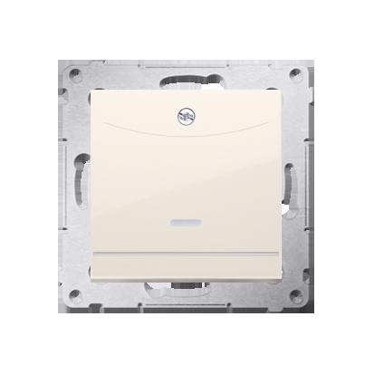 Schalter für Hotelkarte 2polig mit LED Nennstrom: 10A Cremeweiß Kontakt Simon 54 Premium DWH2.01/41