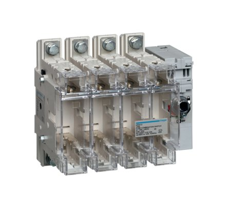 Schalter mit Sicherung 4polig 125 A/ T00 Hager HFD412