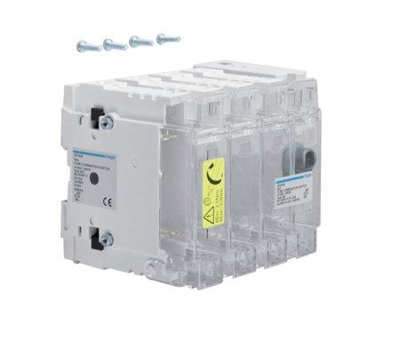 Schalter mit Sicherung 4polig 63 A/ T000 Hager HFD406