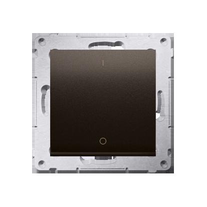 Schalter zweipolig mit Aufdruck und Braun matt Kontakt Simon 54 Premium DW2.01/46