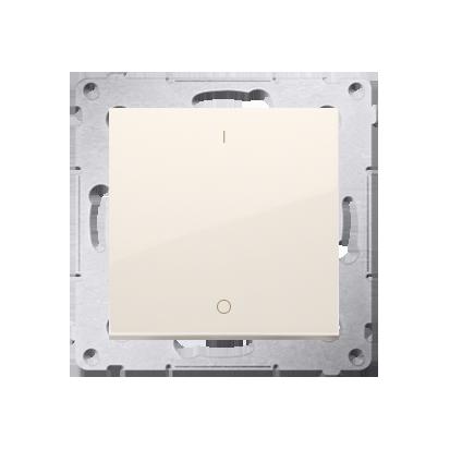 Schalter zweipolig mit Aufdruck und Steckklemmen Cremeweiß Simon 54 Premium Kontakt Simon DW2.01/41