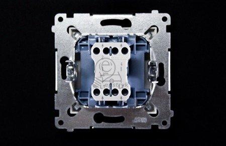 Schalter zweipolig mit Aufdruck und Steckklemmen Weiß Simon 54 Premium Kontakt Simon DW2.01/11
