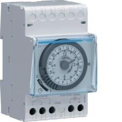 Schaltuhr elektromechanisch ohne Gangreserve Tagesuhr 1W 16A Hager EH110