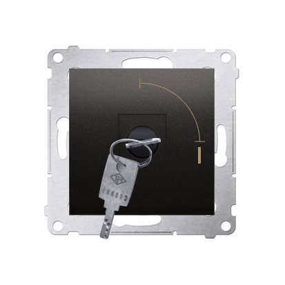 "Schlüsselschalter 1polig ""0-I"" Anthrazit Kontakt Simon 54 Premium DP1K.01/48"
