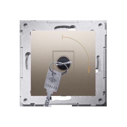 "Schlüsselschalter 1polig ""0-I"" Gold Kontakt Simon 54 Premium DW1K.01/44"