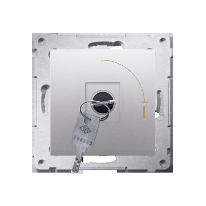 "Schlüsselschalter 1polig ""0-I"" Silber Kontakt Simon 54 Premium DP1K.01/43"