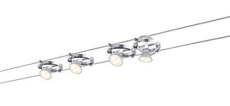 Seilsystem LED Cardan 4x4W Chrom matt 12V