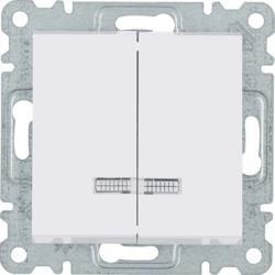 Serienschalter mit Hintergrundbeleuchtung, weiß WL0240 Lumina Hager