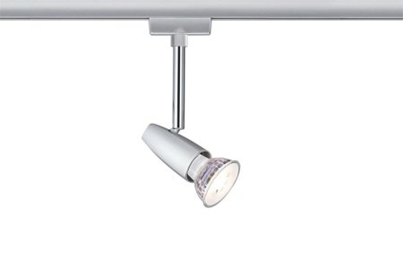 Set Leuchte Schienensystem URail Barelli 3xGU10 Chrom matt
