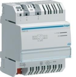 Spannungsversorgung KNX mit 1 Ausgang und 1 Drossel 640mA Hager TXA112
