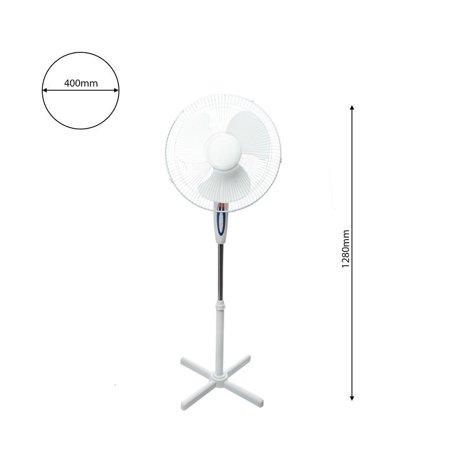 Stehender weißer Ventilator FS1629 16'' Milagro EKW463