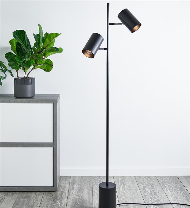 Stehlampe schwarz TWIN 40W 2xE14 Markslojd 107949