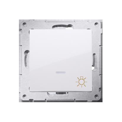 """Taster 1fach (Modul) mit Aufdruck """"Licht"""" und LED Weiß Kontakt Simon 54 Premium DS1L.01/11"""