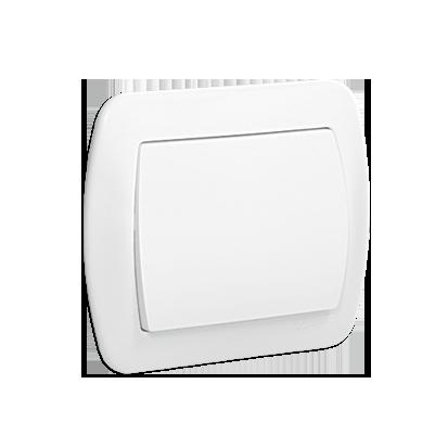 Taster/ Schließer 1polig weiß glänzend 10AX Kontakt Simon AW1/11