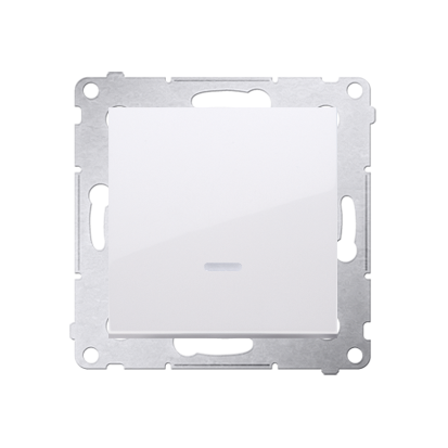 Taster Wechsler (Modul) 1 polig mit LED und weiß Kontakt Simon 54 Premium DP1L.01/11