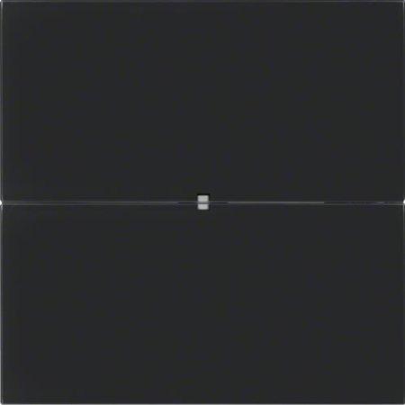 Tastsensor 2fach Komfort B.IQ Glas schwarz Hager 75162592