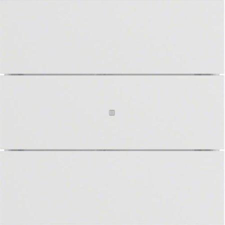 Tastsensor 3fach B.IQ Glas polarweiß matt Hager 75163599