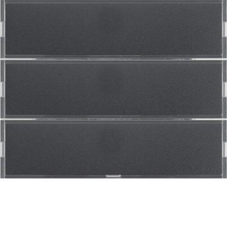 Tastsensor 3fach Komfort mit Beschriftungsfeld KNX K.1 anthrazit matt lackiert Hager 80163776