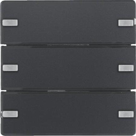 Tastsensor 3fach Komfort mit Beschriftungsfeld KNX Q.x anthrazit samt Hager 80143326
