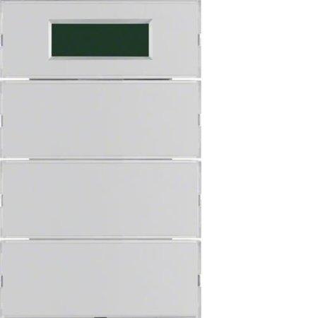 Tastsensor 3fach mit RTR Display K.5 alu Hager 75663774