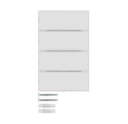Tastsensor 4fach Komfort mit Beschriftungsfeld KNX K.1 polarweiß glänzend Hager 80164770
